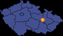 Víska u Jevíčka - mapa